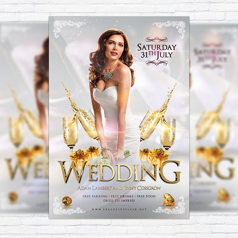 Wedding – Premium Flyer Template + Facebook Cover | Exclsiveflyer