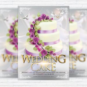 Wedding Cake - Premium Flyer Template + Facebook Cover
