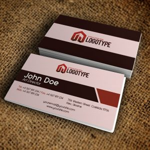 Corporate Brown Business Card - Free PSD Template