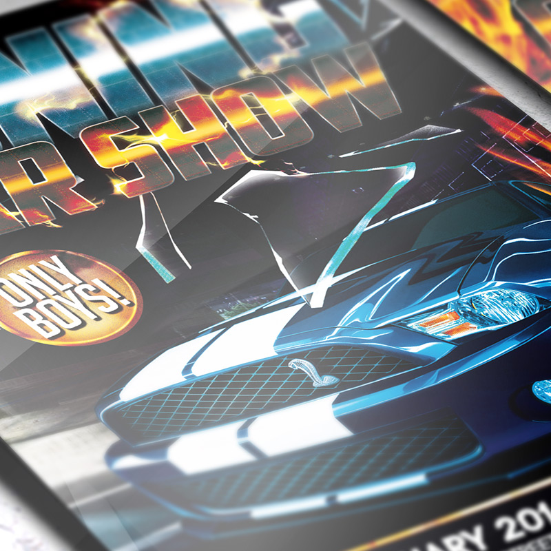 Tuning Car Show Premium Flyer Template Facebook Cover – Car Flyers