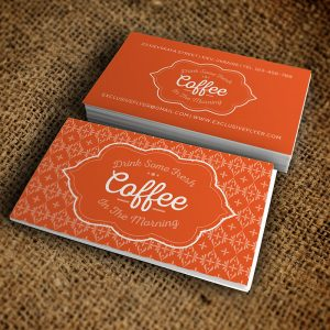 Vintage Cafe Business Card - Premium Business Card Template