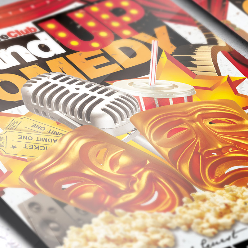 Stand Up Comedy Premium Flyer Template Facebook Cover – Comedy Show Flyer Template