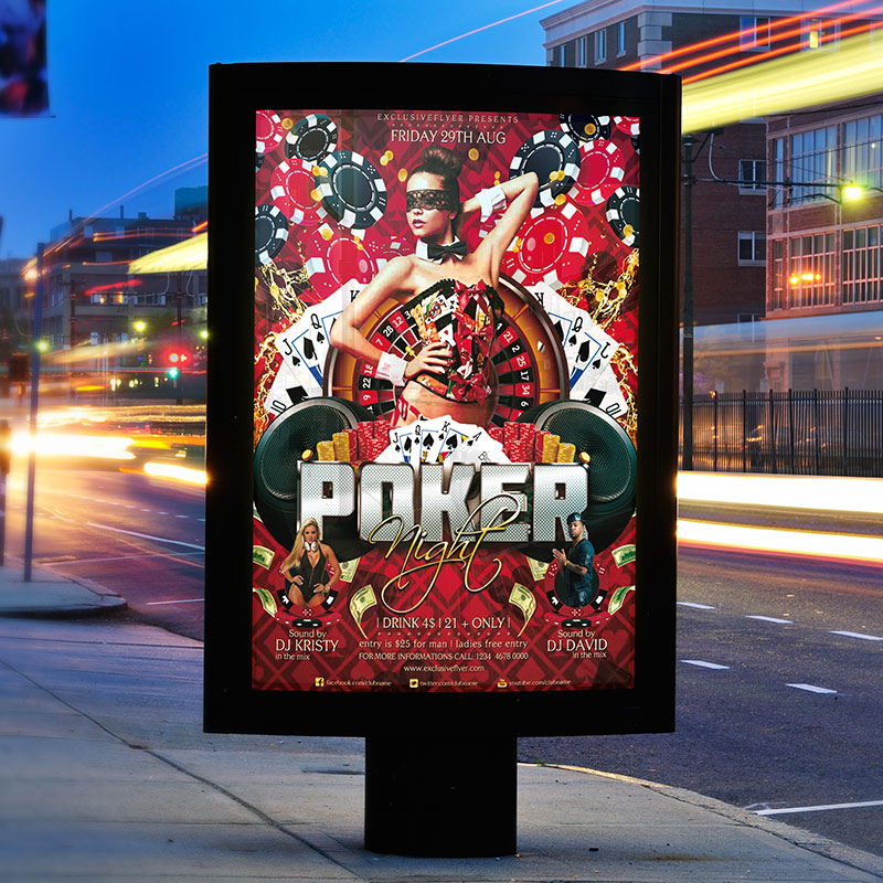 Poker Flyer Template Antaexpocoaching