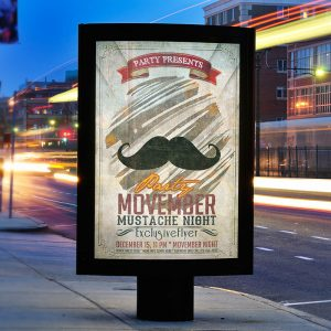 Movember Party - Premium PSD Flyer Template-1