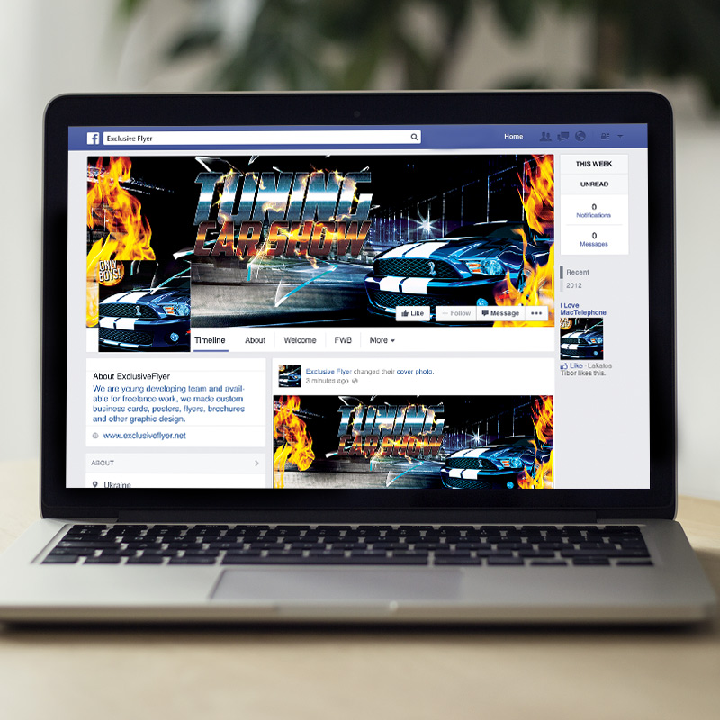 Tuning Car Show – Premium Flyer Template + Facebook Cover