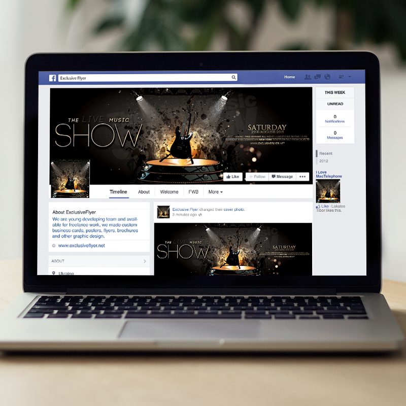 The Live Music Show - Premium Flyer Template + Facebook ...