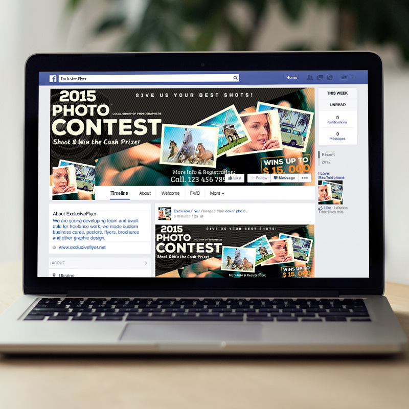 photo contest premium flyer template facebook cover exclsiveflyer free and premium psd. Black Bedroom Furniture Sets. Home Design Ideas