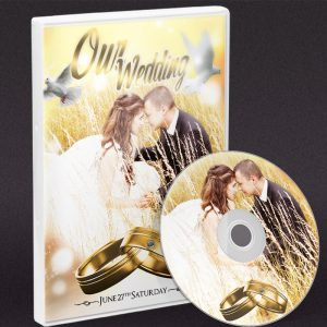 Wedding Day - Premium PSD DVD Cover Template