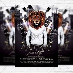 animal-party-premium-flyer-template-facebook-cover-1