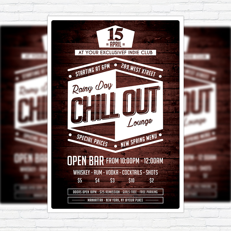 Chill Out  Premium Flyer Template  Facebook Cover  Exclsiveflyer