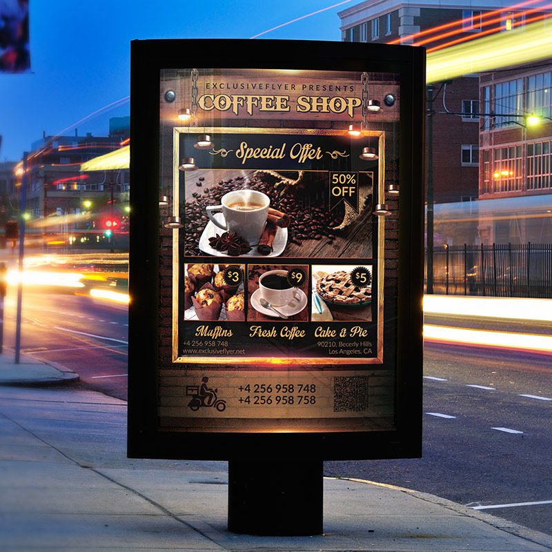 coffee shop premium flyer template facebook cover exclsiveflyer free and premium psd. Black Bedroom Furniture Sets. Home Design Ideas