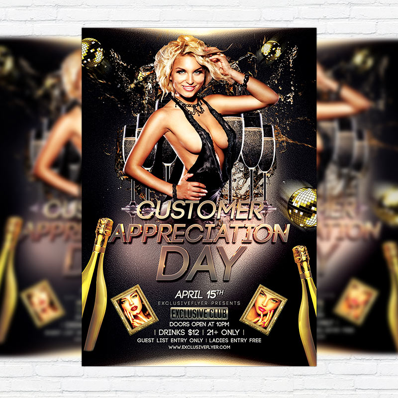 customer appreciation day  u2013 premium flyer template
