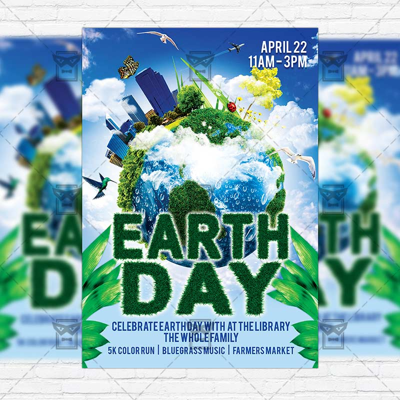 earth day  u2013 premium flyer template   facebook cover