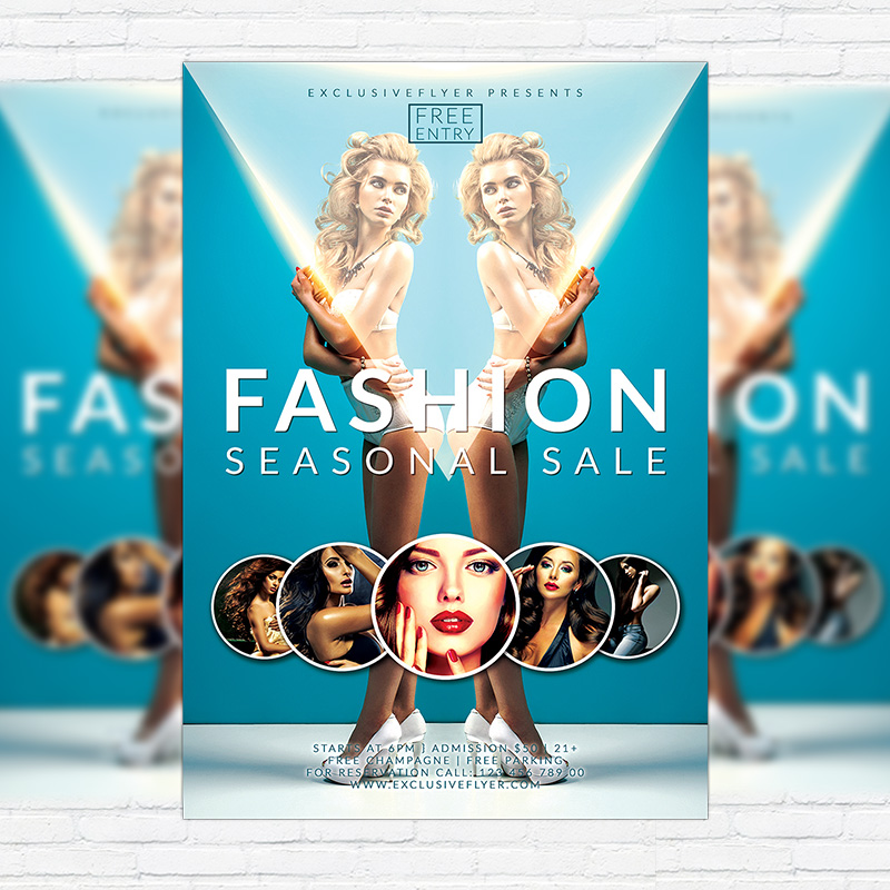 Fashion seasonal sale premium flyer template facebook cover go to club flyers maxwellsz