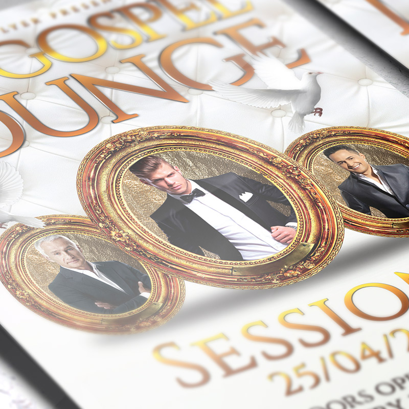 The Gospel Lounge Premium Flyer Template Facebook Cover – Lounge Flyer Template