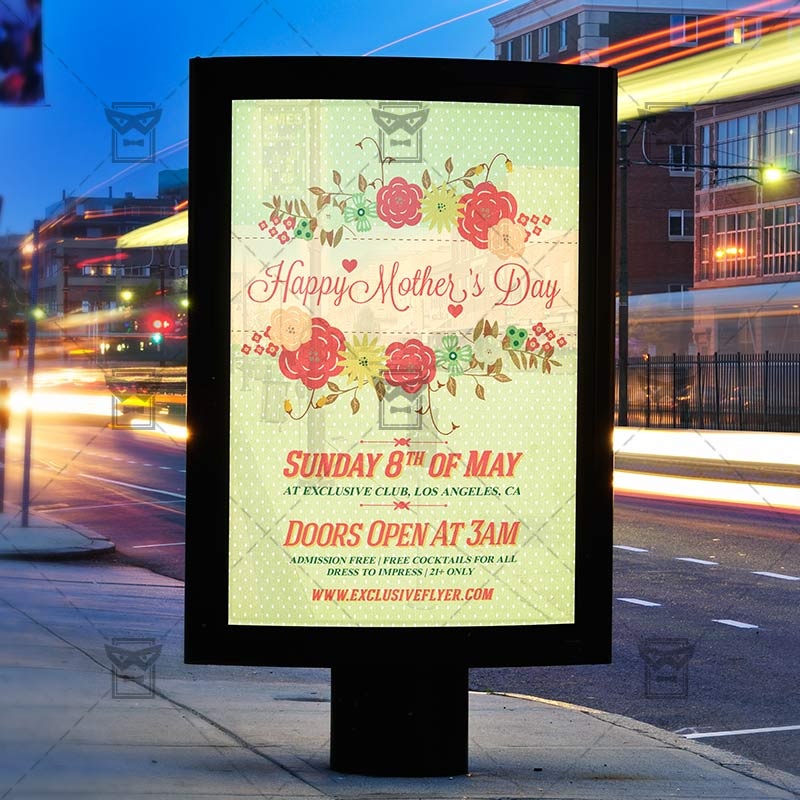 Mothers Day – Premium Flyer Template + Facebook Cover ...