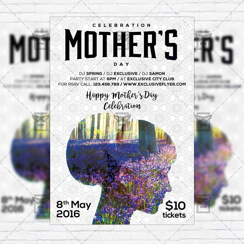 mother s day celebration premium flyer template instagram size flyer exclsiveflyer free. Black Bedroom Furniture Sets. Home Design Ideas