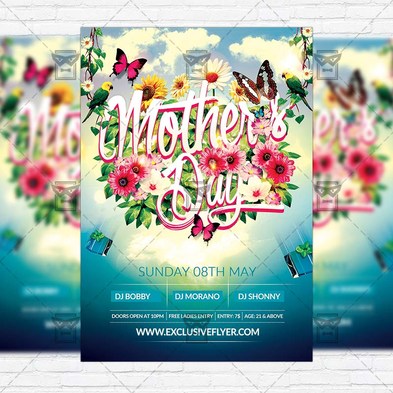Mother'S Day – Premium Flyer Template + Facebook Cover
