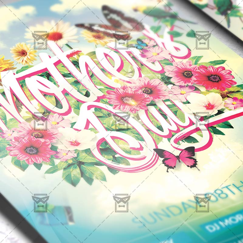 Mothers Day Brunch V2 Flyer Template: Premium Flyer Template + Facebook Cover