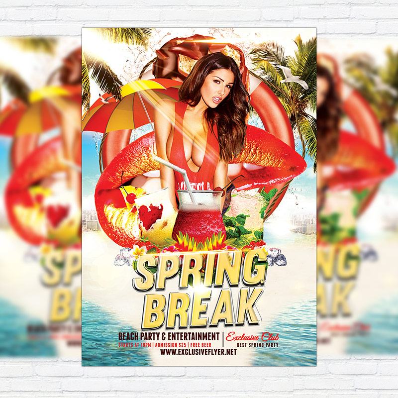 Spring Break Sessions – Premium Flyer Template + Facebook Cover