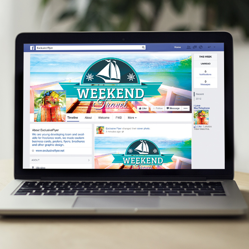 Travel Weekend Premium Flyer Template Facebook Cover – Free Product Flyer Templates