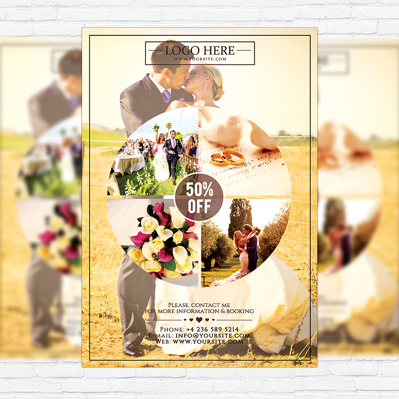 Wedding Photography  Premium Flyer Template  Exclsiveflyer