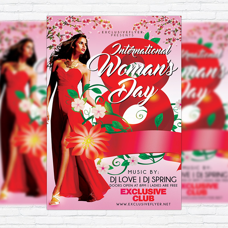Womens Day Celebration Premium Flyer Template Facebook Cover