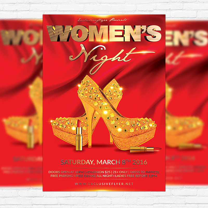 Women'S Night – Premium Flyer Template + Facebook Cover