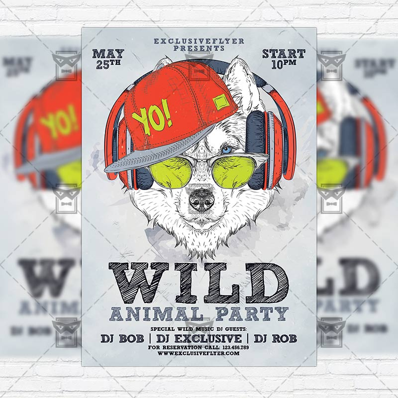 animal_wild_party-premium-flyer-template-instagram_size-1