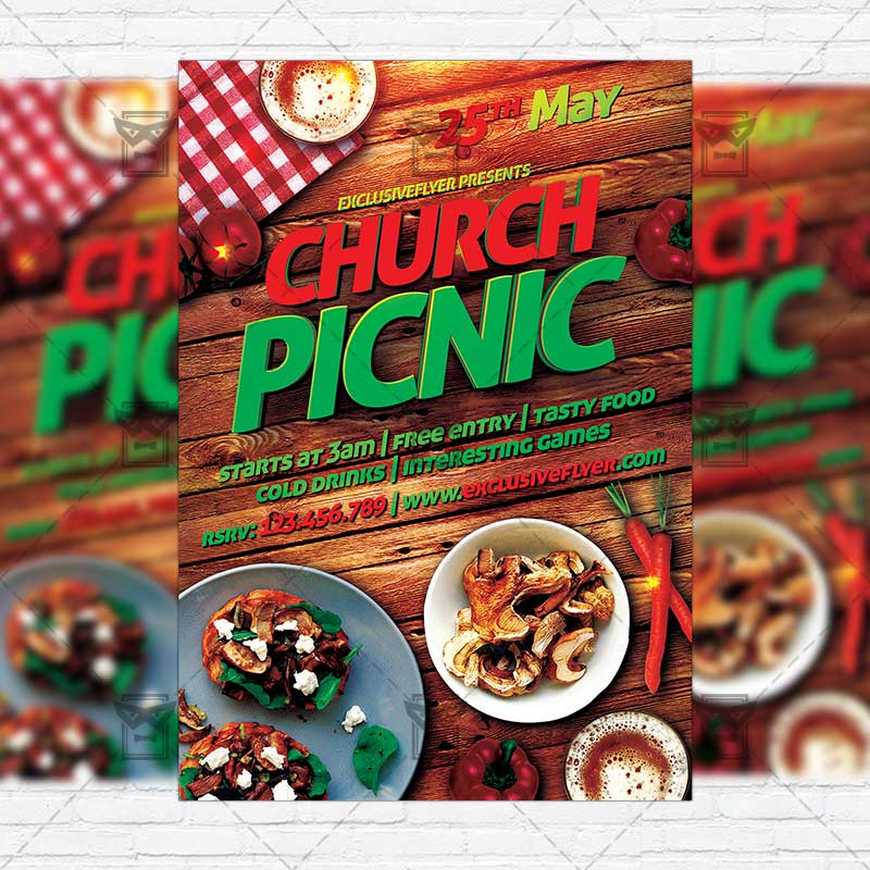 Church Picnic 2 Premium Flyer Template Instagram Size Flyer