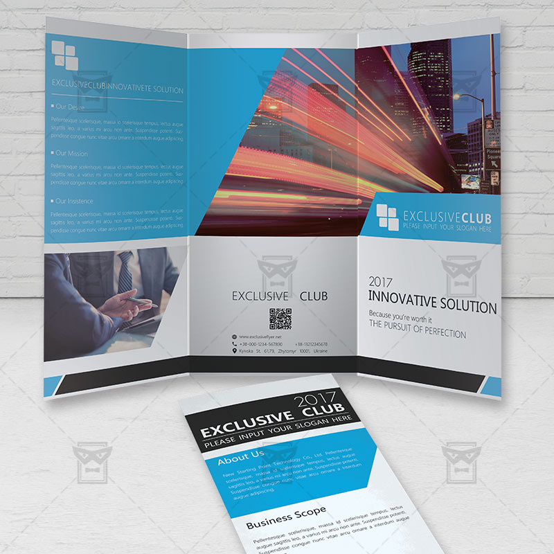 Corporate Brochure Free TriFold Brochure PSD Template - Brochure photoshop template