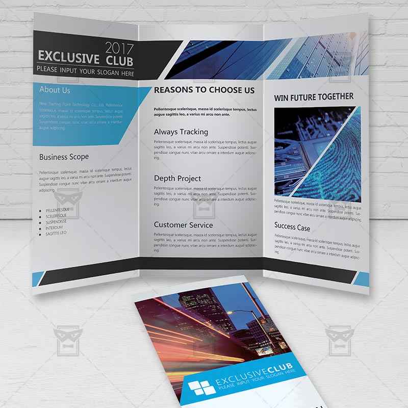 Corporate brochure free tri fold brochure psd template for Folded brochure template