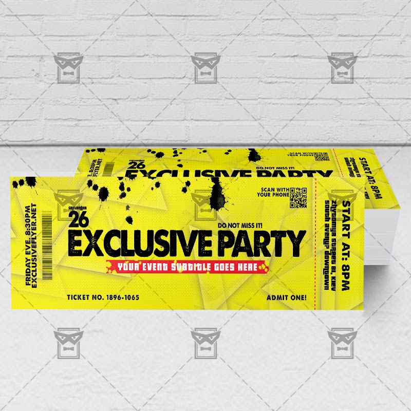 exclusive party premium psd ticket template exclsiveflyer free