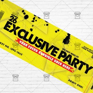 Exclusive Party - Premium PSD Ticket Template-2