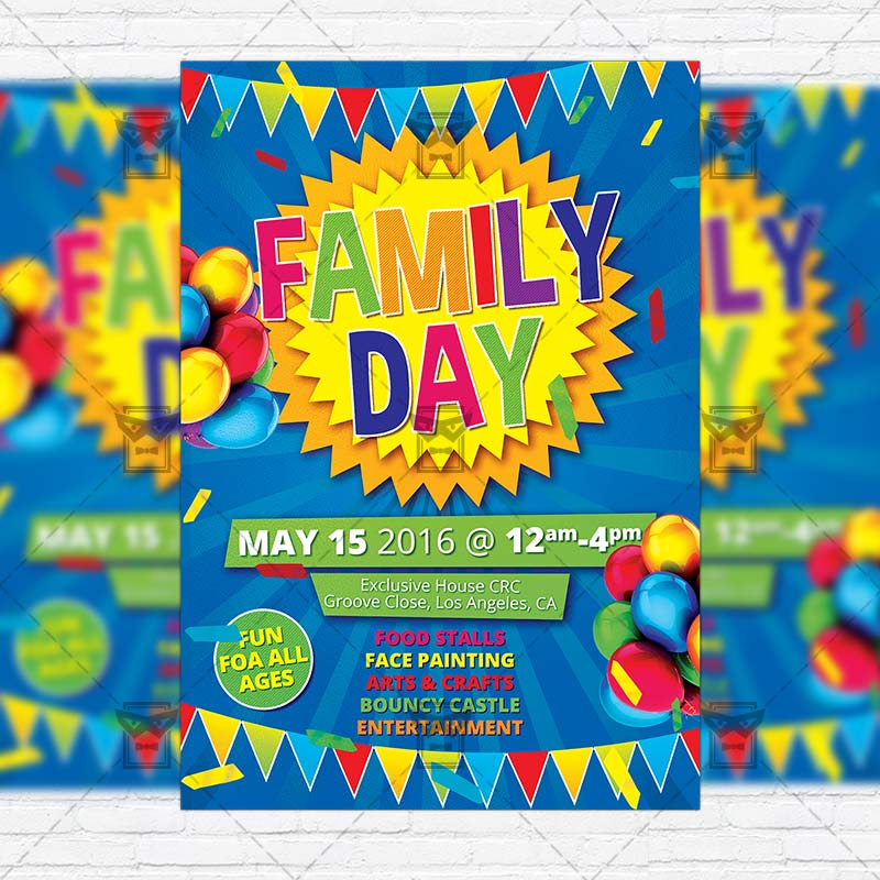 Family Day Premium Flyer Template Instagram Size 1