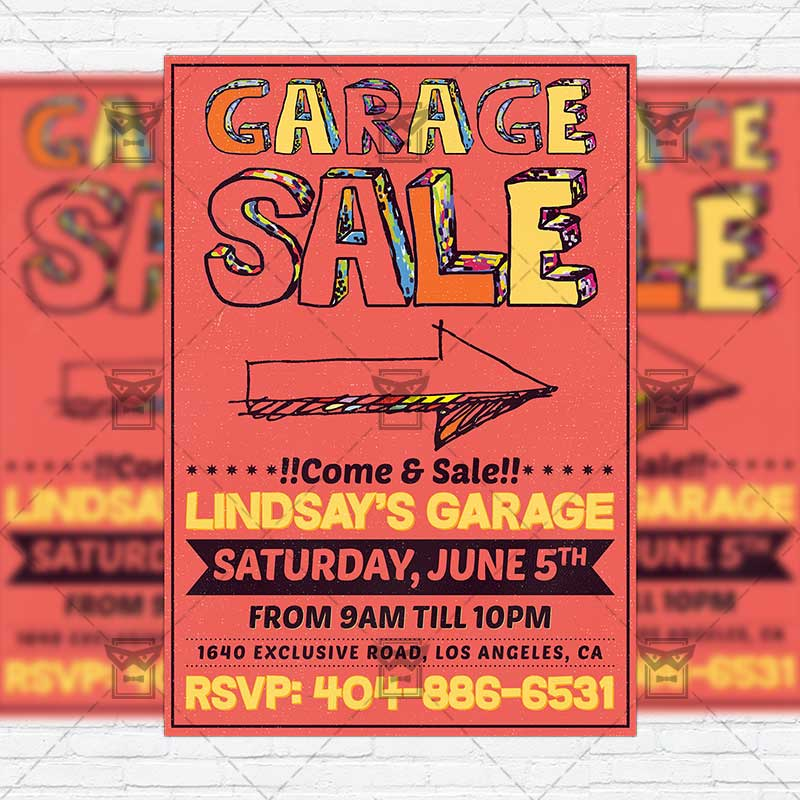 Garage Sale  Premium Flyer Template  Instagram Size Flyer