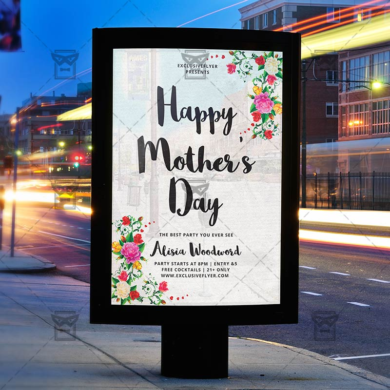 Creative Floral Flyer Of Happy Mothers Day Template For: Premium Flyer Template + Instagram