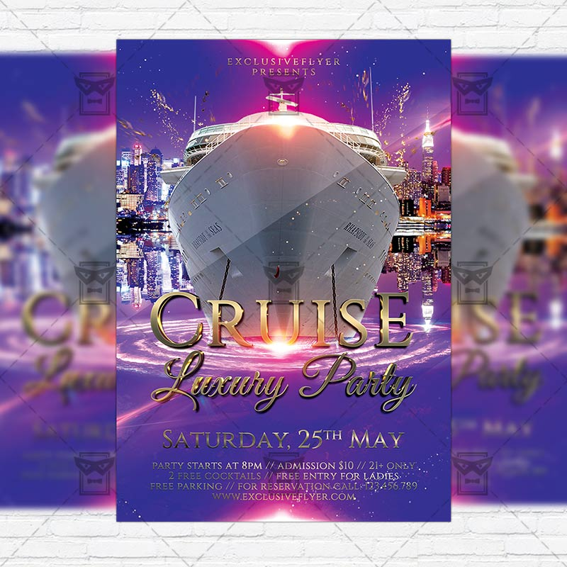 luxury cruise party  u2013 premium flyer template   instagram