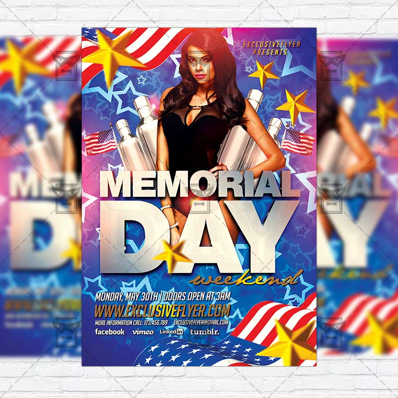 Memorial Day Weekend – Premium Flyer Template + Instagram Size