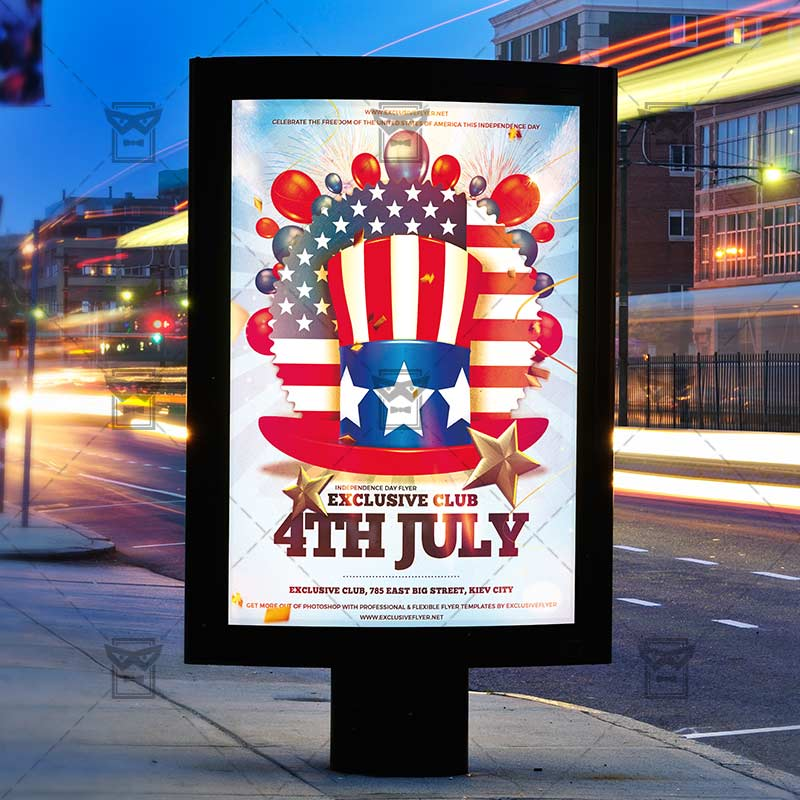 4th Of July – Premium Flyer Template + Instagram Size Flyer ...