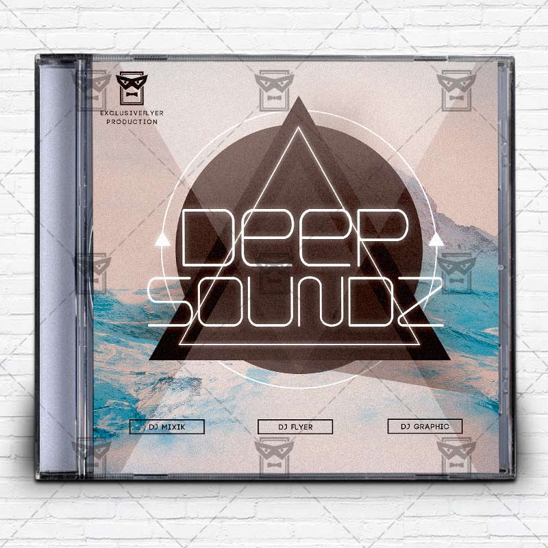 Deep Music  Premium Mixtape Album Cd Cover Template  Exclsiveflyer