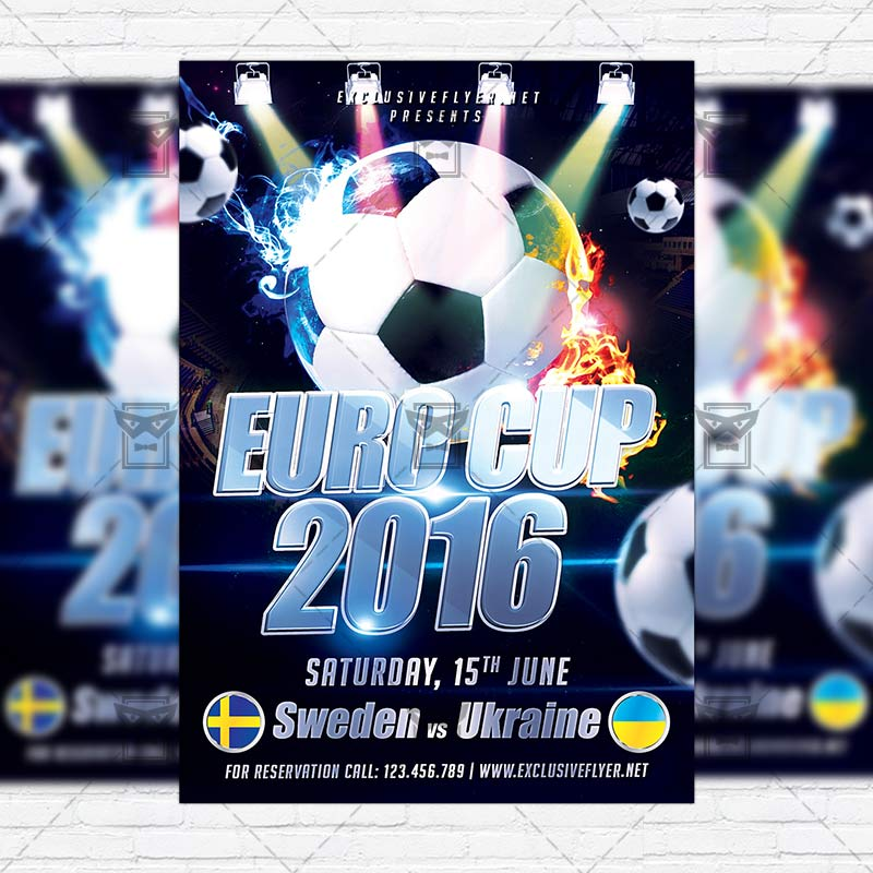 euro cup 2016 premium flyer template instagram size flyer exclsiveflyer free and premium. Black Bedroom Furniture Sets. Home Design Ideas