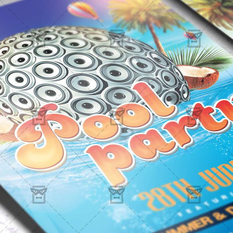 ... Summer_pool_party Premium Flyer Template Instagram_size 2 ...