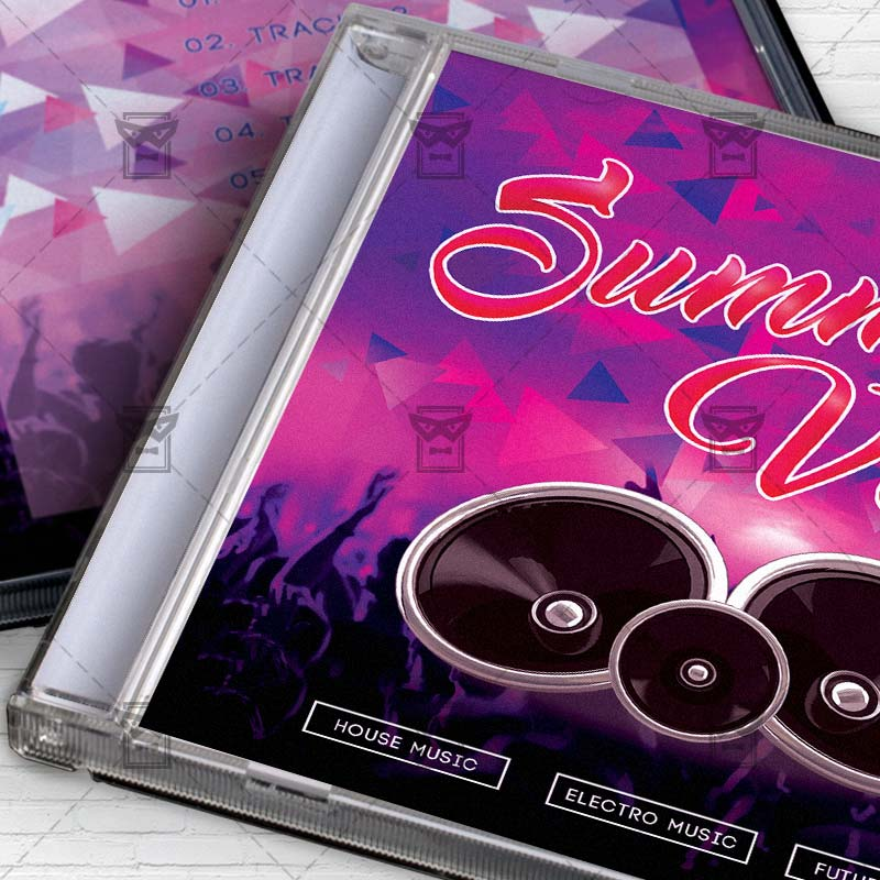 Summer Vibes Free Mixtape Album Cd Cover Template