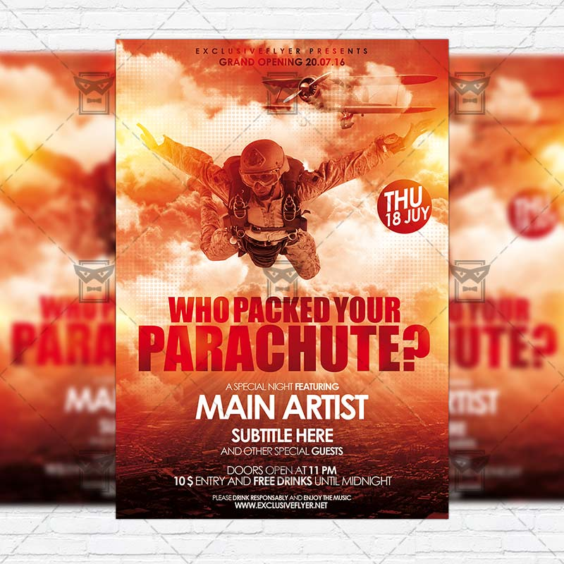 Who Packed Your Parachute  Premium Flyer Template  Instagram
