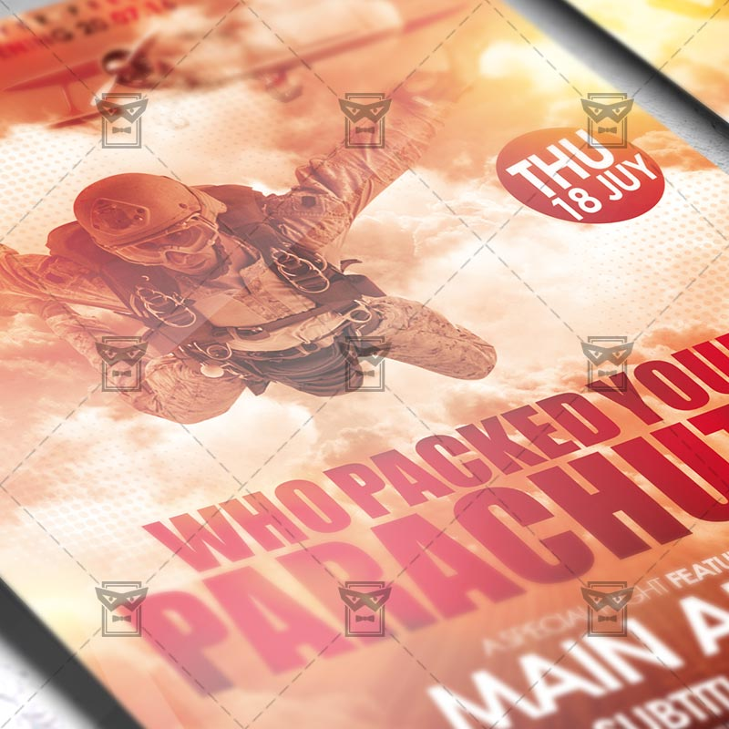 Who Packed your Parachute – Premium Flyer Template + Instagram ...