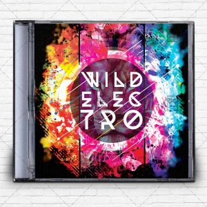wild_electro-music-premium-mixtape-album-cd-cover-template-1