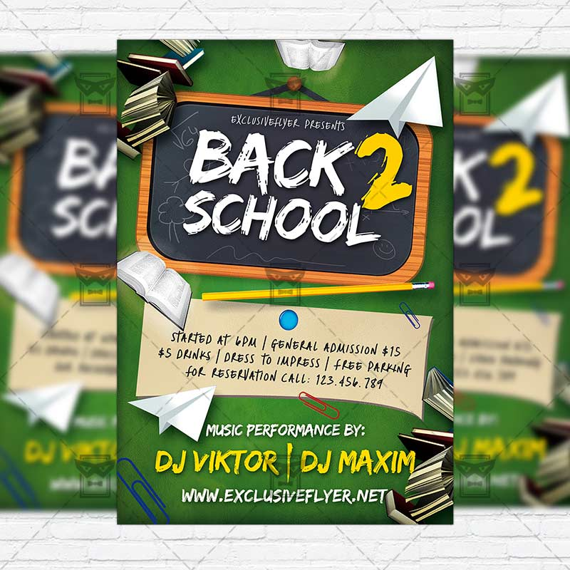 Back  School  Premium Flyer Template  Instagram Size Flyer