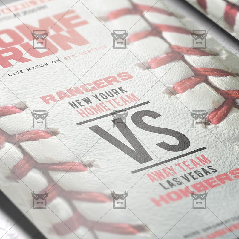 Baseball Game – Premium Flyer Template + Instagram Size Flyer ...