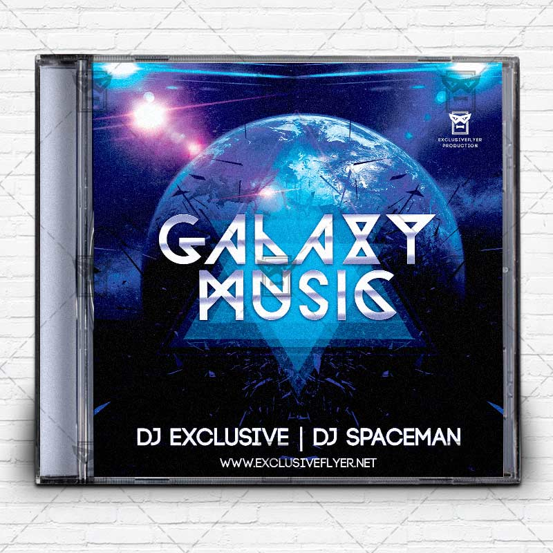 Galaxy Music Premium Mixtape Album Cd Cover Template